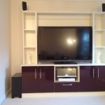 Vetreo Gloss Doors - Damson / Pale Cream Text T.V 1