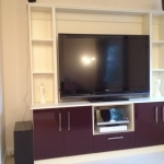 Vetreo Gloss Doors - Damson / Pale Cream Text T.V 2